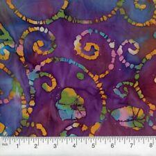 By The Yard, Blue Purple Quilters Batik Fabric, Batik Quilting Fabric