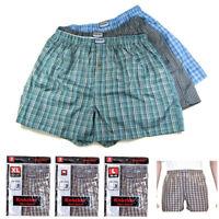 3 Men Boxers Plaid Shorts Undewear Lot Briefs Size M 34-36 L 38-40 XL 42-44 2XL