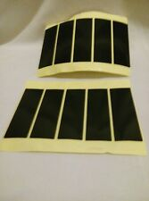 NUMBER PLATE STICKERS X 8 DOUBLE SIDED ADHESIVE PADS FIXINGS 75X25X1mm
