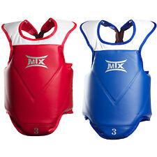 MTX Taekwondo Body Protectors 1 Red 1 Blue Set Chest Guards WTF CE Martial Arts
