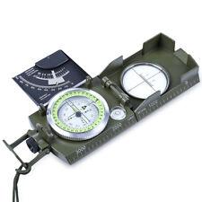 Military Pocket Metal Sighting Compass Clinometer Hiking Camping + Inclinometer