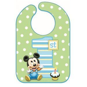 Disney Mickey Mouse 1st Birthday Bib Baby Boy First Birthday Party Supplies