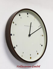 NEWGATE Wanduhr MR CLAKE ARABIC DOT 60th BRITISH DESIGN Uhr Wallclock