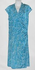 Jones New York Woman Cap Sleeve Semi Wrap Dress Celestial Multi 3X MSRP $99.50