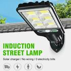 600W LED Solar Flood Light Motion Sensor Security Wall Street Yard Outdoor Lamp