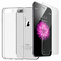 CLEAR THIN SLIM TRANSPARENT TPU SILICONE GEL CASE COVER FOR IPHONE 6 , 7 , 8 , X