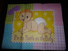Pin the Bottle on the baby Game - Great game for Baby Showers
