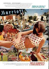 1969 Camelback Inn Marriott Hotels Chic in the Desert Scottsdale PRINT AD