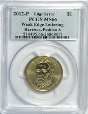 2012-P Harrison Weak Edge Lettering Error PCGS MS66 POS A