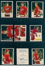 1983-84 Topps Hockey Sticker Team Set Detroit Red Wings (9)