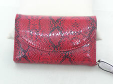X by BJX (JENUSA) Red and Black Faux Reptile (PVC) Wristlet Wallet for IPhone