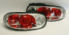 Mazda Miata MX5 90-97 Chrome Clear Euro Altezza Tail Lights Pair RH LH