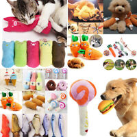 For Pet Dog Cat Puppy Chew Toy Knots Soft Plush Squeaker Squeaky Play Sound Toys