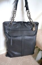 NWT $1495 Lanvin Paris Butter Soft Leather Chain Strap Tall Slim Handbag Black