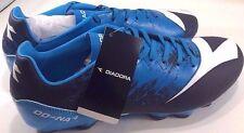 Diadora Men's Dd-Na 4 R Lpu Soccer Shoe, Dark Smoke/Fluo Blue, 9.5 M US