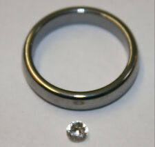 Natural White Sapphire loose gemstone 3.5mm round 0.25ct faceted gem saf04B