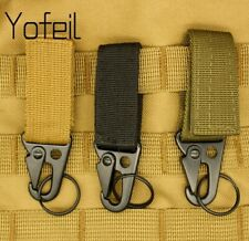 Tactical Nylon Key Hook Belt Buckle Military Carabine Camping Hiking Accessories