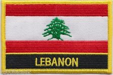 Lebanon Flag Embroidered Patch Badge - Sew or Iron on