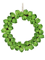 Gisela Graham Brussel Sprout Twig Wreath Quirky Christmas Door Decoration Xmas