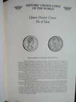 Historic Coins of World Elizabeth II Isle of Man 1 Crown 1980 UNC Queen Mother