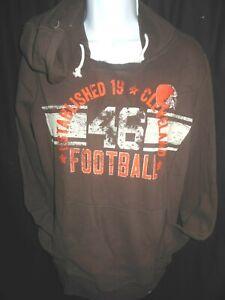 Cleveland Browns Women's G-III Hooded Lightweight Pullover Sweatshirt  Medium