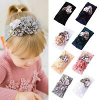 Baby Girls Kids Bunny Bow Knot Turban Headband Hair Band New Headwrap E2D4