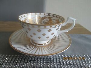 Royal Collection English Fine China White Drawing Room Cup & Saucer