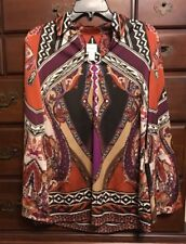 Chico's Sun Canyon Gorgeous Statement-Sleeve Satiny Tunic Size 0 (4/6-S) NWT