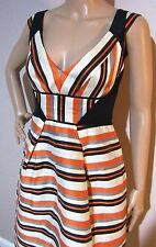 VERONIKA MAINE size 6 exclusive print striped linen blend DRESS near new cond
