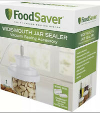 New listing FoodSaver Wide-Mouth Mason Jar Lid Sealer Air Tight Dry Can Odor Proof New