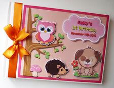 Personalised Woodland animals birthday guest book, Woodland animals album