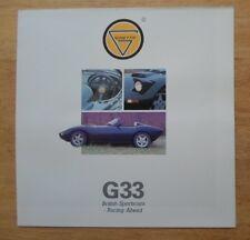 Ginetta G33 Roadster ORIG 1990 UK MKT brochure poster