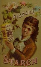 Lautz Bros & Co Niagara Starch Lovely Lady Holding Box Of Product Nice! F74