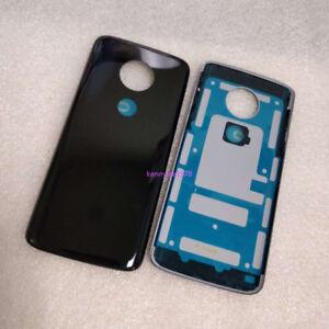 Battery Rear Back Cover Door Case Glass For Motorola Moto G6 Play XT1922 Black
