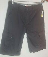 Levis Boys Black Cargo Shorts sz 12 NWT  BB-18