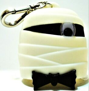 Bath Body Works POCKET *BAC Holder MUMMY Black & White, Silver Clip, NEW