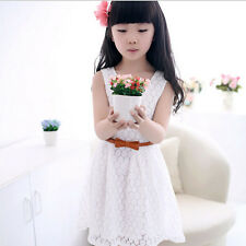 Summer Girl Sleeveless Lace Dress Toddler Kids Baby Princess Dresses 11-12T
