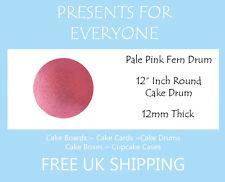 """12"""" Inch Round Pale Pink Wedding Birthday Cake Drum / Board 12mm"""