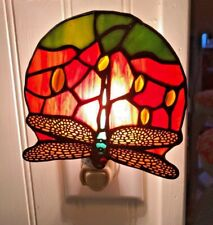 Stained Glass Dragonfly Night Light