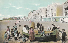 """WIMEREUX 1674 coin de plage pub verso magasin chaussures """"au sans pareil"""" écrite"""