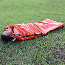 Orange Outdoor Camping Emergency Warm Heat Waterproof Survival Sleeping Bag LN
