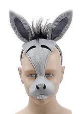 Donkey Face Mask & Sound Farm Animal Fancy Dress Costume Outfit