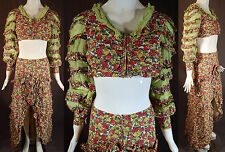 Fruit Novelty Print Dress Brazilian Carnival Costume 2pc Vintage Carmen Miranda