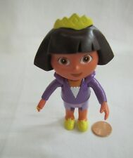 "DORA THE EXPLORER Dollhouse 4.25"" GIRL DOLL Purple Outfit Cake Topper Figure '05"