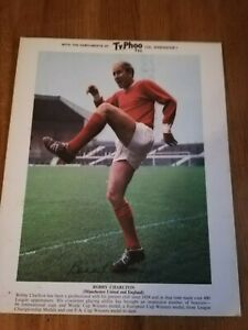 1960s Ty.Phoo Tea football picture card, Bobby Charlton Manchester United