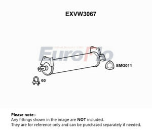 Exhaust Centre Box fits VOLKSWAGEN TRANSPORTER Mk3 1.6D JX Silencer Middle New