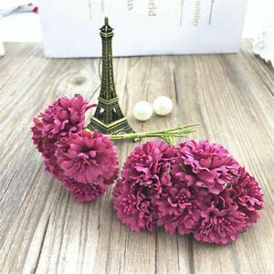 Artificial Silk Fake Noble Daisy Flowers 6 Head Bouquet Wedding Party Home Decor