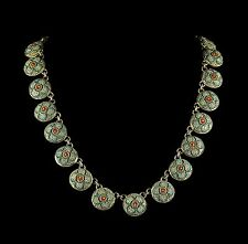 Antico Vittoriano MICRO MOSAICO COLLANA COMPLETA collare intorno al 1860
