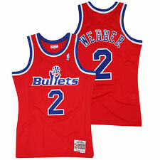 Mitchell &Ness Men Washington Bullets Chris Webber Classics Road Swingman Jersey