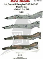 EURO DECALS 1/32 MCDONNELL DOUGLAS F-4C & F-4E PHANTOMS OF THE 57TH FIS ED-32124